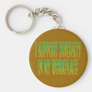Porte-clés Je soutiens la diversité dans mon porte - clé