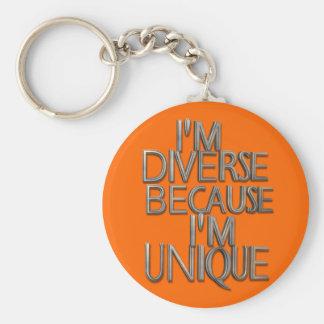 Porte-clés Je suis divers puisque je suis unique