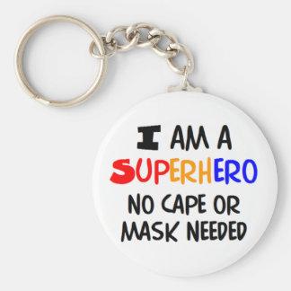 Porte-clés Je suis super héros
