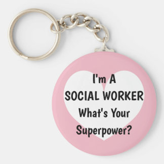Porte-clés Je suis un assistant social ce qui est votre porte