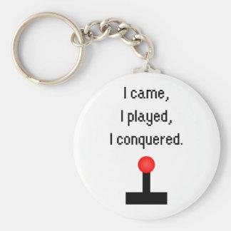 Porte-clés Je suis venu j'ai joué