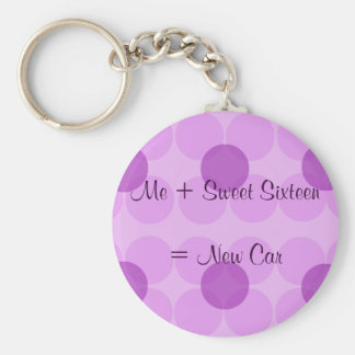 Porte-clés Je + Sweet sixteen = nouvelle voiture