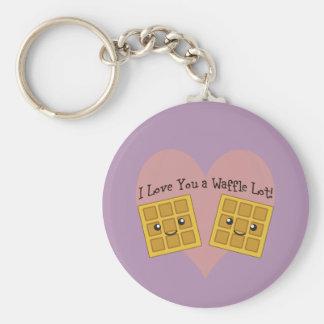 Porte-clés Je t'aime un sort de gaufre !