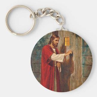 Porte-clés Jésus frappe sur la porte