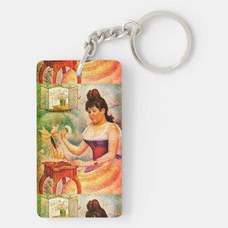 Porte-clés Jeune femme se saupoudrant