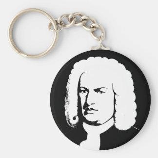 Porte-clés Johann Sebastian Bach abstraitement dans noirs et
