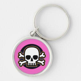 Porte-clés Jolly roger rose