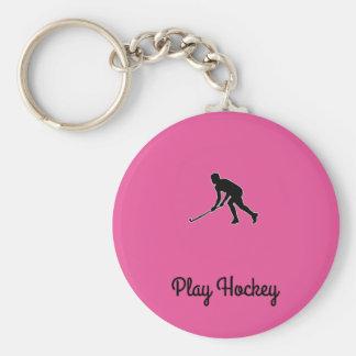 Porte-clés Joueur de hockey d'herbe