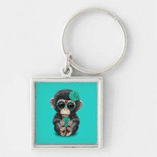 Porte-clés Jour bleu du chimpanzé mort