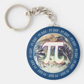 Porte-clés Jour coloré de la lueur pi sur des maths de la