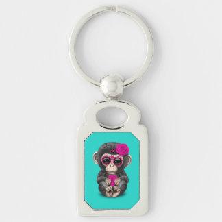 Porte-clés Jour rose du chimpanzé mort