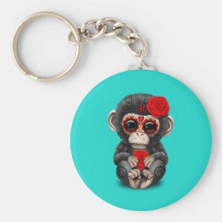 Porte-clés Jour rouge du chimpanzé mort