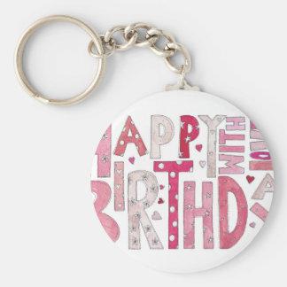 Porte-clés Joyeux anniversaire avec amour
