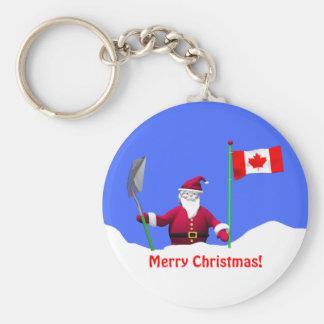 Porte-clés Joyeux Noël Père Noël au Canada