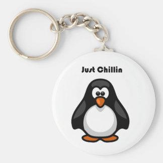 Porte-clés Juste bande dessinée de pingouin de Chillin
