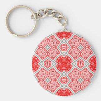 Porte-clés Kaléidoscope rouge