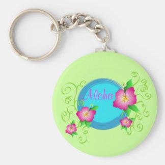 Porte-clés Ketmie rose - porte - clé