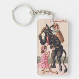 Porte-clés Krampus effrayant Noël vintage de démon de filles