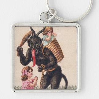 Porte-clés Krampus enlève Noël vintage de vacances de filles