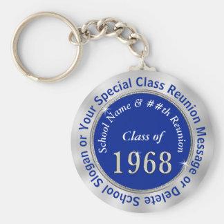 Porte-clés La classe de 1968 cadeaux a personnalisé 2 zones