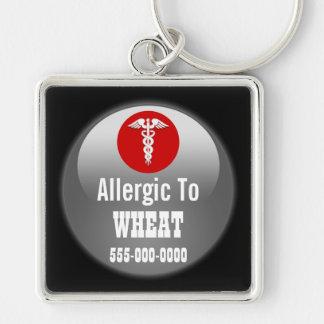 Porte-clés La conscience | d'allergie de blé personnalisent