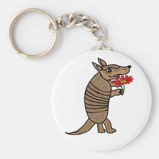 Porte-clés La CY tatou de bande dessinée avec un porte - clé