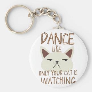 Porte-clés La danse comme seulement votre chat observe