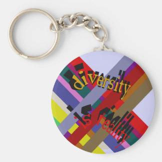 Porte-clés La diversité est porte - clé de réalité