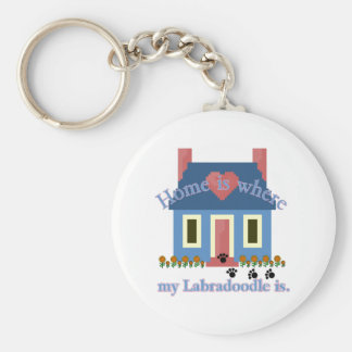 Porte-clés La maison de Labradoodle est