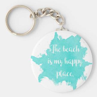 Porte-clés La plage est mon endroit heureux