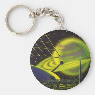 Porte-clés La planète verte au néon vintage W de la