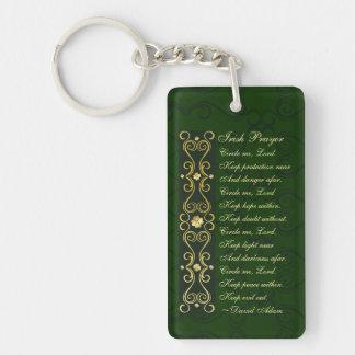 Porte-clés La prière irlandaise, m'entourent seigneur,