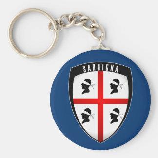 Porte-clés La Sardaigne, porte - clés (bleus) de crête de