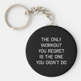 Porte-clés La seule séance d'entraînement que vous regrettez