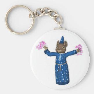 Porte-clés La souris mignonne de magicien de bande dessinée