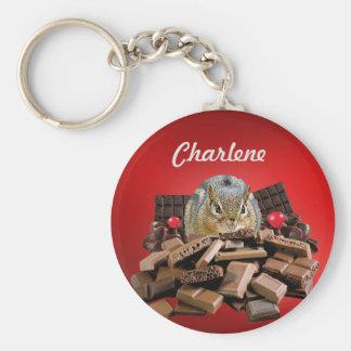Porte-clés La tamia de chocolat de jour la plus douce de