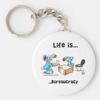 Porte-clés La vie est bureaucratie