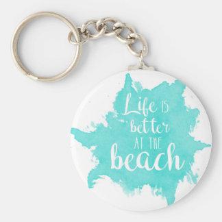 Porte-clés La vie est meilleure à la plage