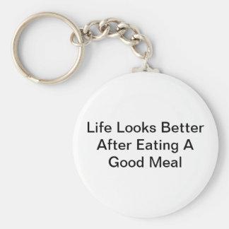 Porte-clés La vie semble meilleure après consommation d'un