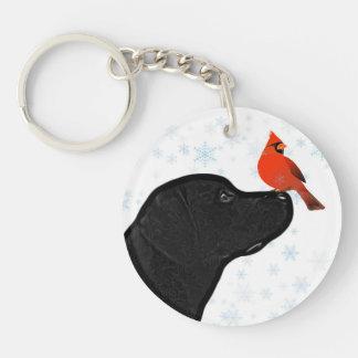 Porte-clés Laboratoire et cardinal noirs