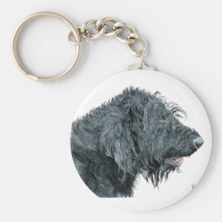 Porte-clés Labradoodle noir
