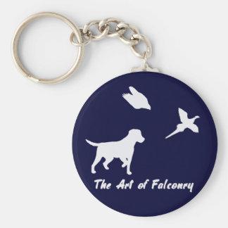 Porte-clés Labrador et fauconnerie