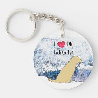 Porte-clés Labrador jaune - amour d'I mon Labrador