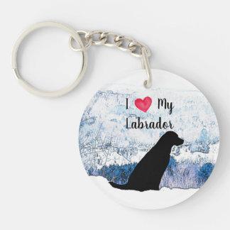 Porte-clés Labrador noir - amour d'I mon Labrador