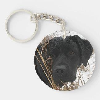 Porte-clés Labrador noir - chasse de fin de saison