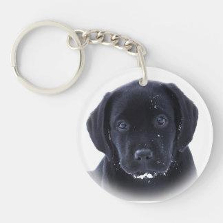 Porte-clés Labrador noir - chiot de neige