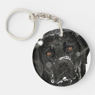 Porte-clés Labrador noir - globe de neige