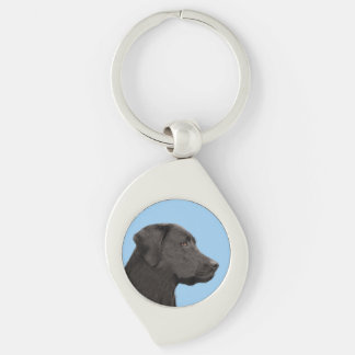 Porte-clés Labrador retriever (noir)
