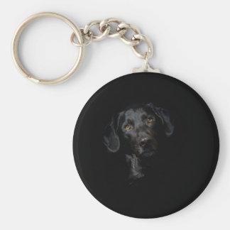 Porte-clés Labrador retriever noir personnalisable