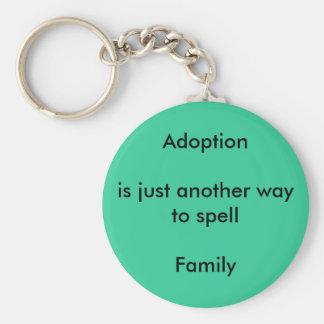 Porte-clés L'adoption égale la famille